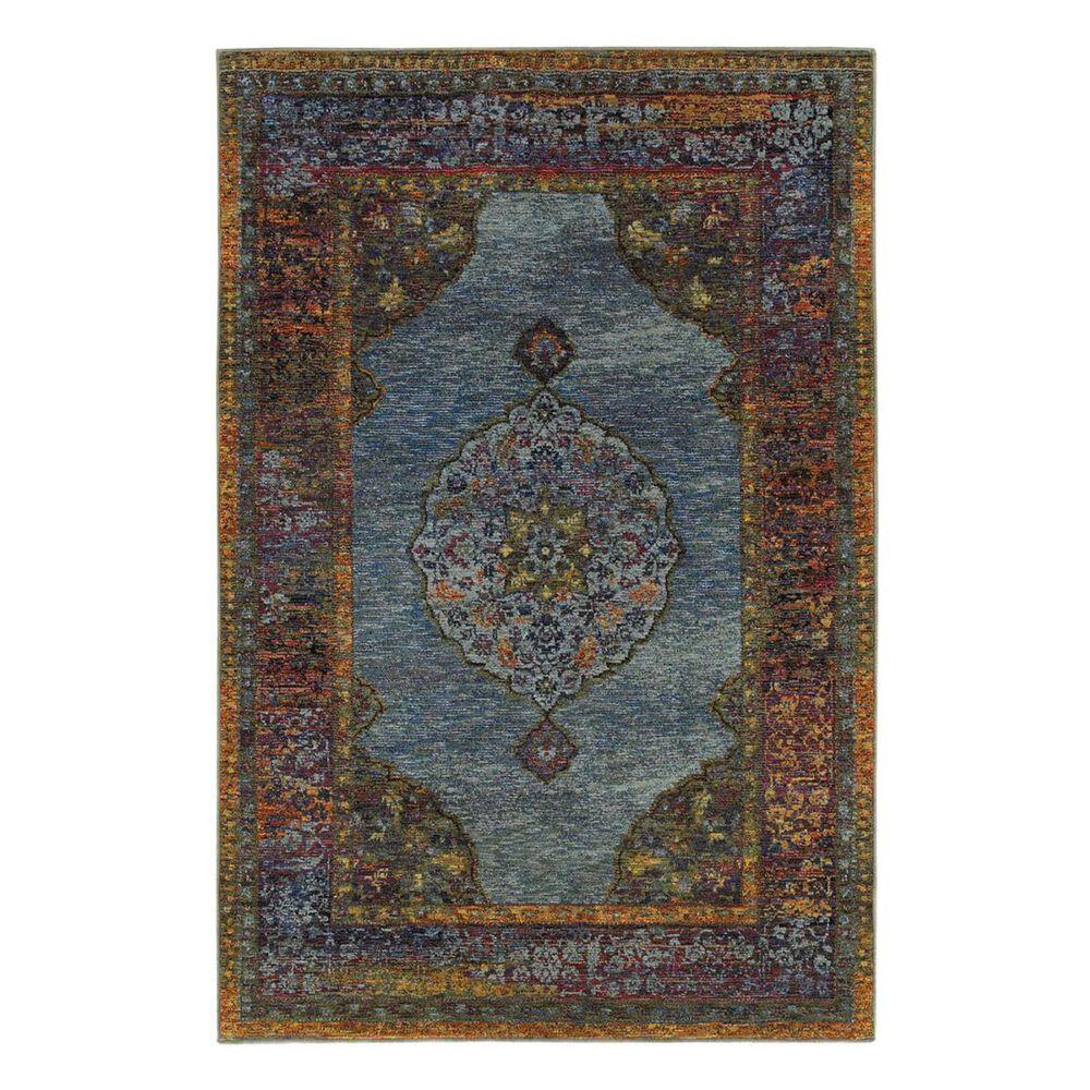 "Oriental Weavers Andorra 7139A 5'3"" x 7'3"" Blue Area Rug, , large"