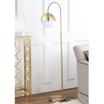 """Safavieh Jonas 55.5"""" Floor Lamp in Brass Gold, , large"""