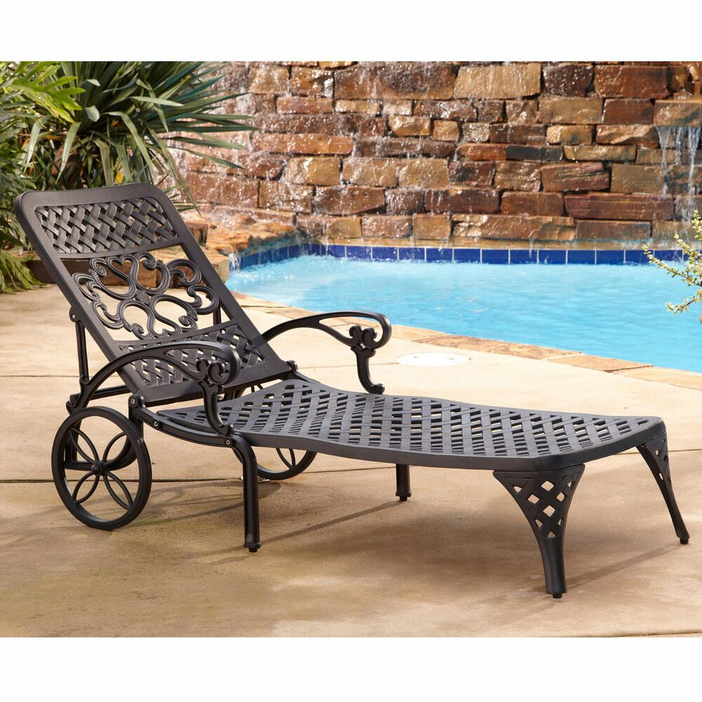 Home Styles Sanibel Chaise Lounge without Cushions in Black, , large