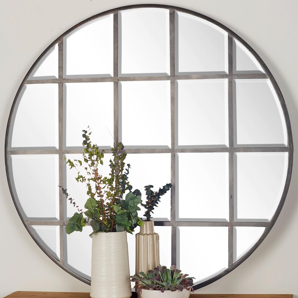 """Maple and Jade 48"""" Wall Mirror in Silver, , large"""