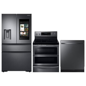 Samsung 3-Piece Kitchen Package with 5.9 Cu. Ft. Electric Range and Top Control Dishwasher in Black Stainless Steel, , large