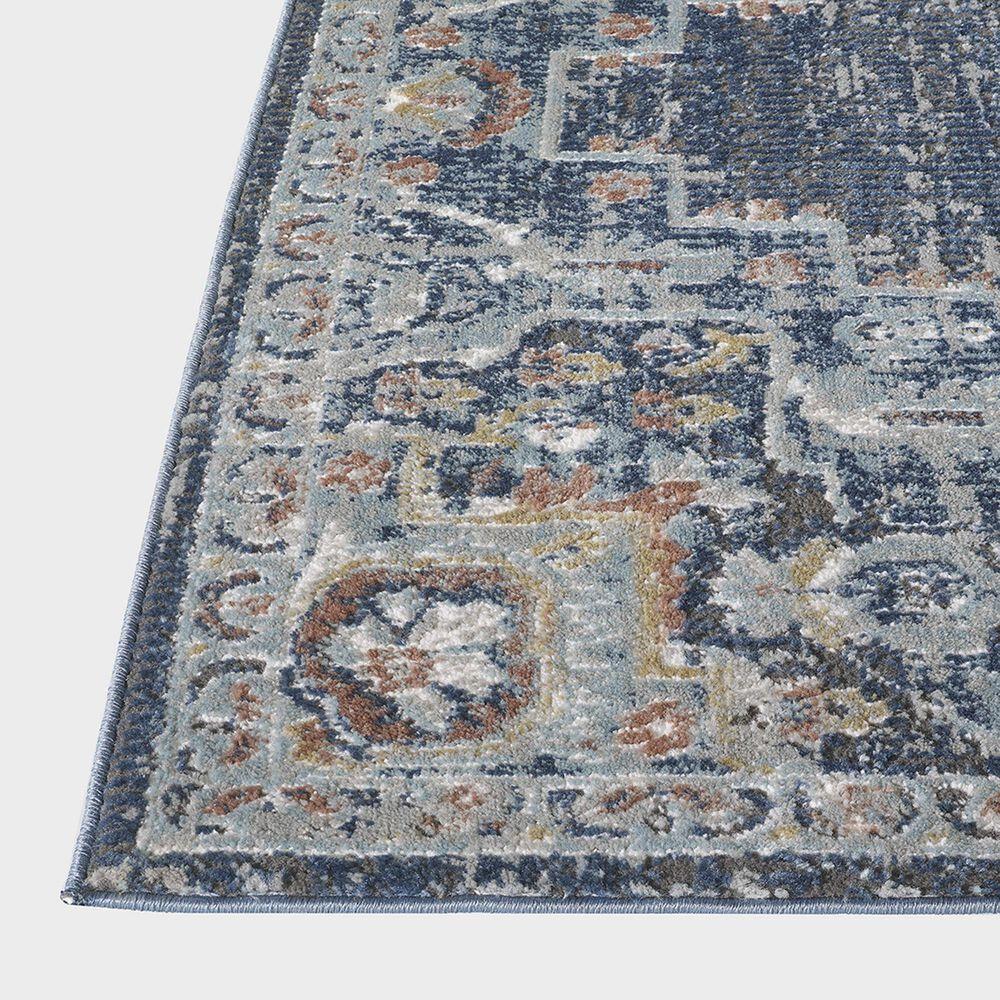 "Central Oriental Orient Dorcie 3824.218 3'1"" x 5'3"" Blue and Dark Grey Area Rug, , large"