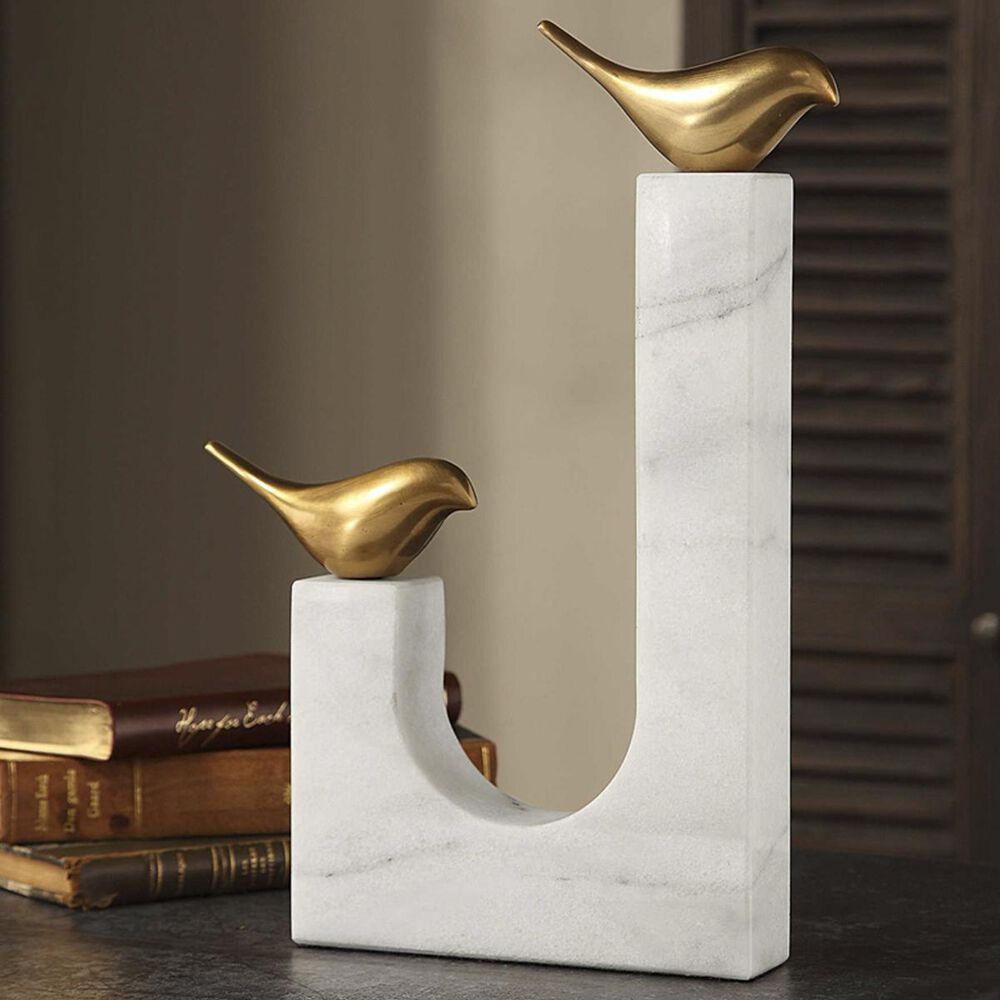 37B Songbirds Brass Sculpture, , large