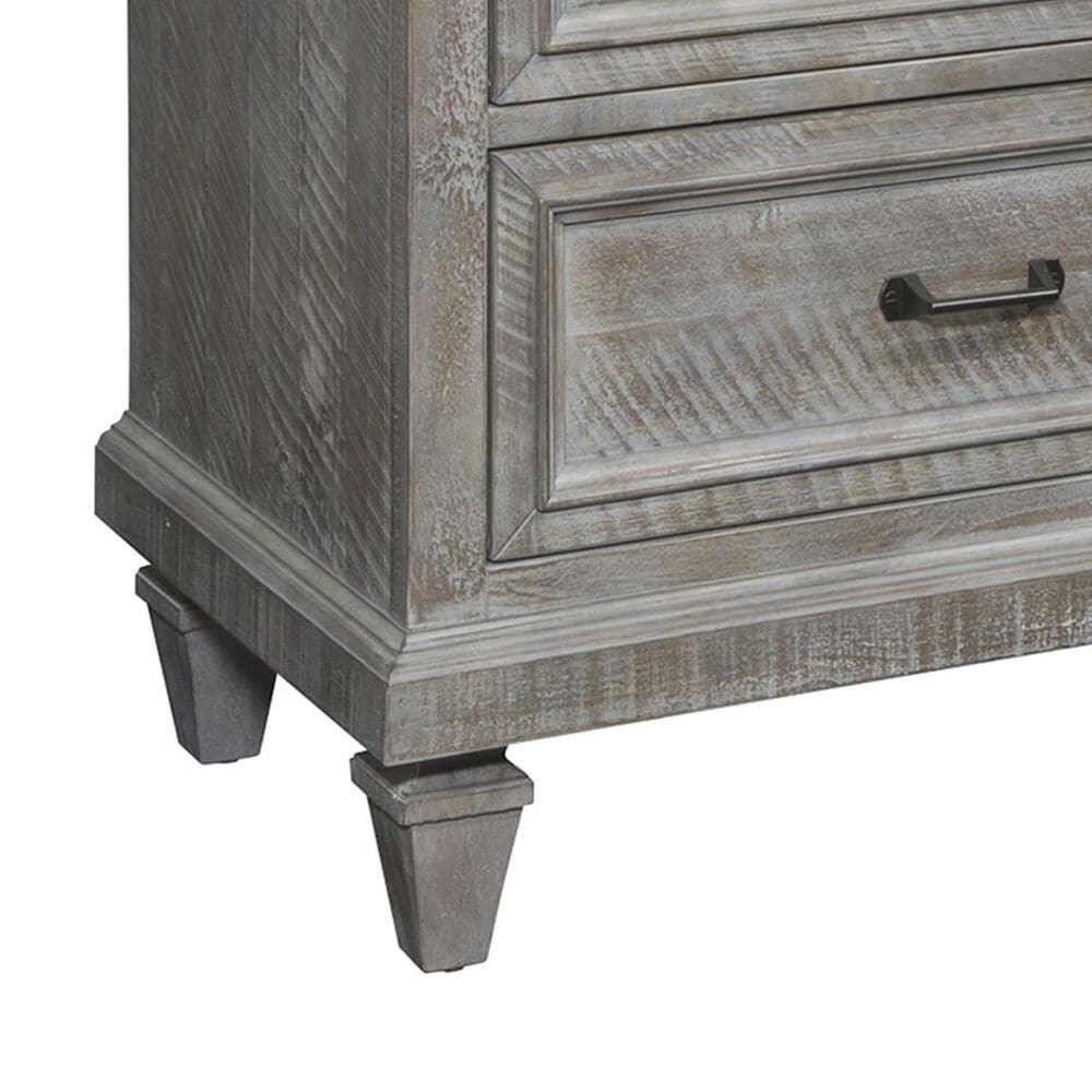 Nicolette Home Lancaster 2 Drawer Nightstand in Dovetail Grey, , large