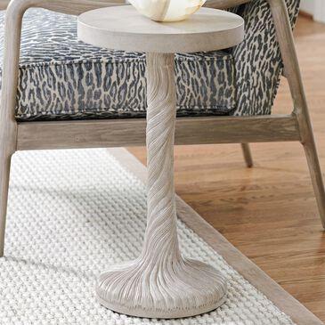 Lexington Furniture Malibu Saddle Peak Round Accent Table in Warm Taupe, , large