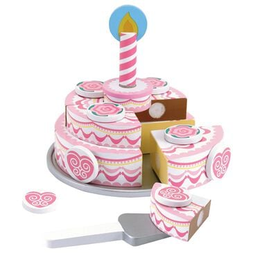 Melissa & Doug Triple Layer Party Cake Wooden Play Food, , large