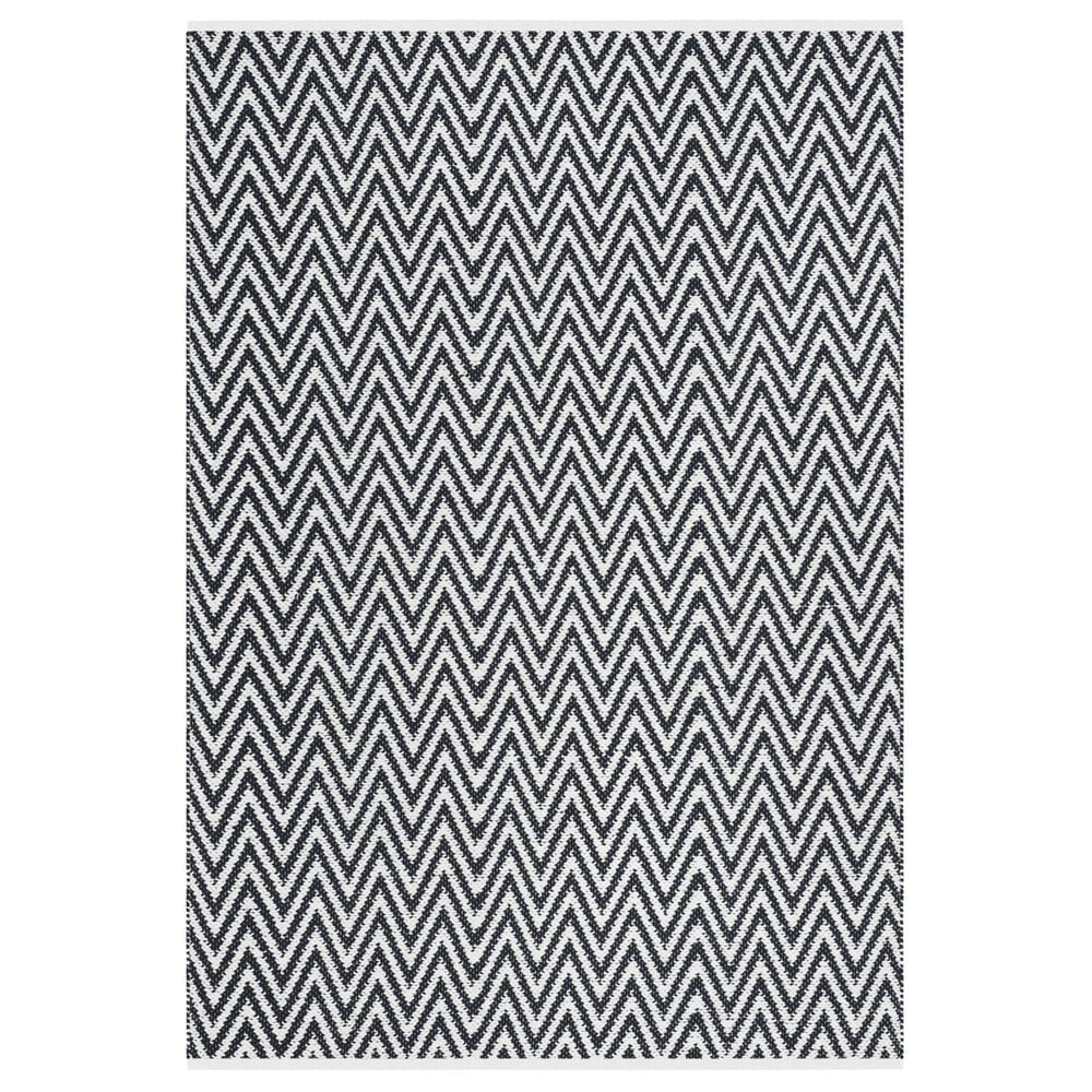Safavieh Montauk MTK812 5' x 8' Black and Ivory Area Rug, , large