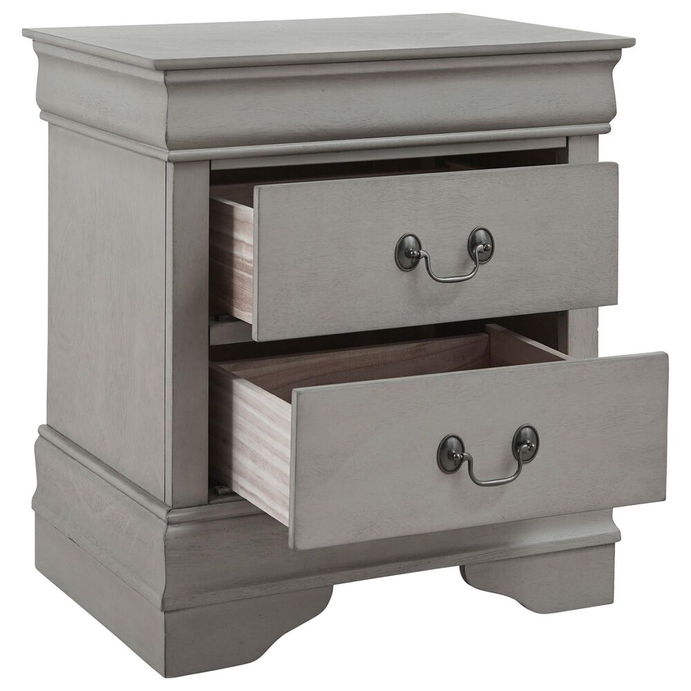 Signature Design by Ashley Kordasky 2 Drawer Nightstand in Gray, , large