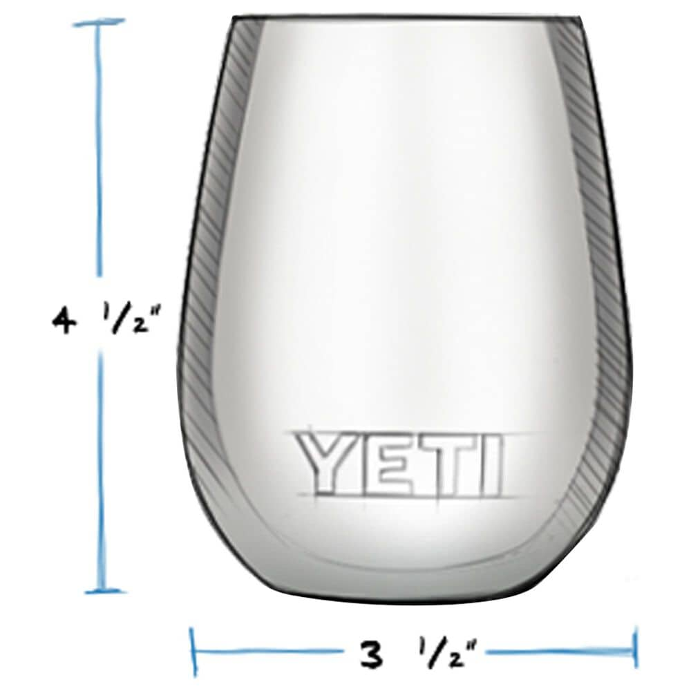 YETI Rambler 10 Oz Wine Tumbler with MagSlider Lid in Navy, , large