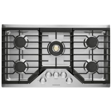 "GE Appliances 36"" Gas Cooktop with 5-Burner in Stainless Steel, , large"
