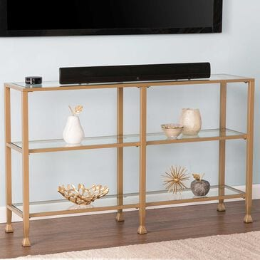 Southern Enterprises Jaymes Console Table in Soft Gold, , large