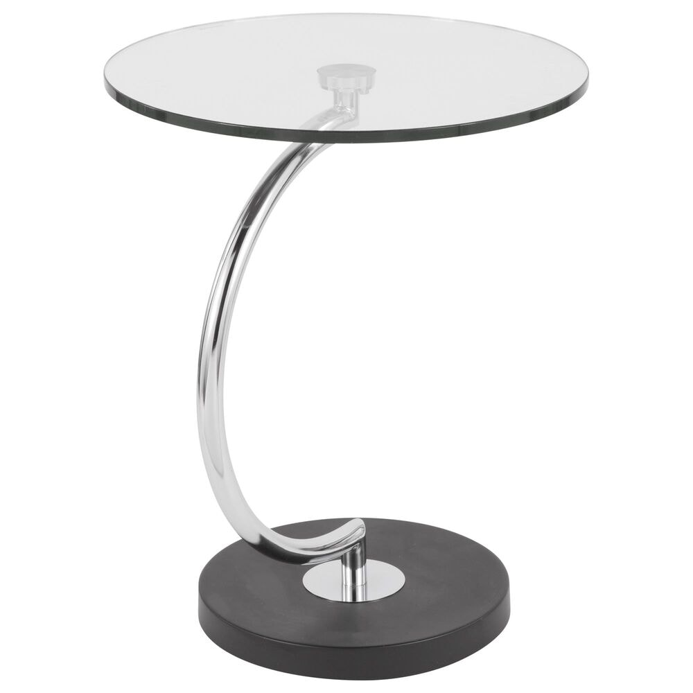 Lumisource C End Table in Clear, Black, and Chrome, , large