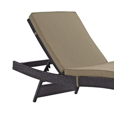 Modway Convene Outdoor Patio Chaise in Espresso and Mocha - Set of 4, , large