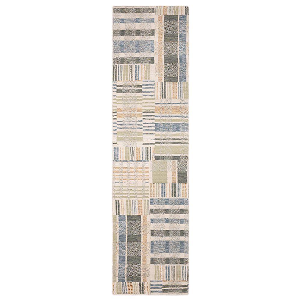 "Oriental Weavers Atlas Geometric 752E0 2'3"" x 8' Blue and Green Runner, , large"