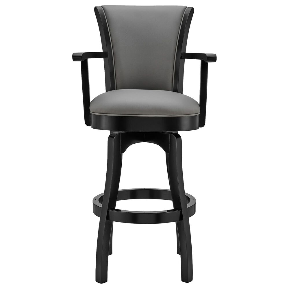 """Blue River Raleigh Arm 26"""" Swivel Counter Stool in Grey, , large"""