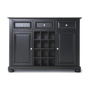 Crosley Furniture Alexandria Black Buffet with Wine Storage, , large