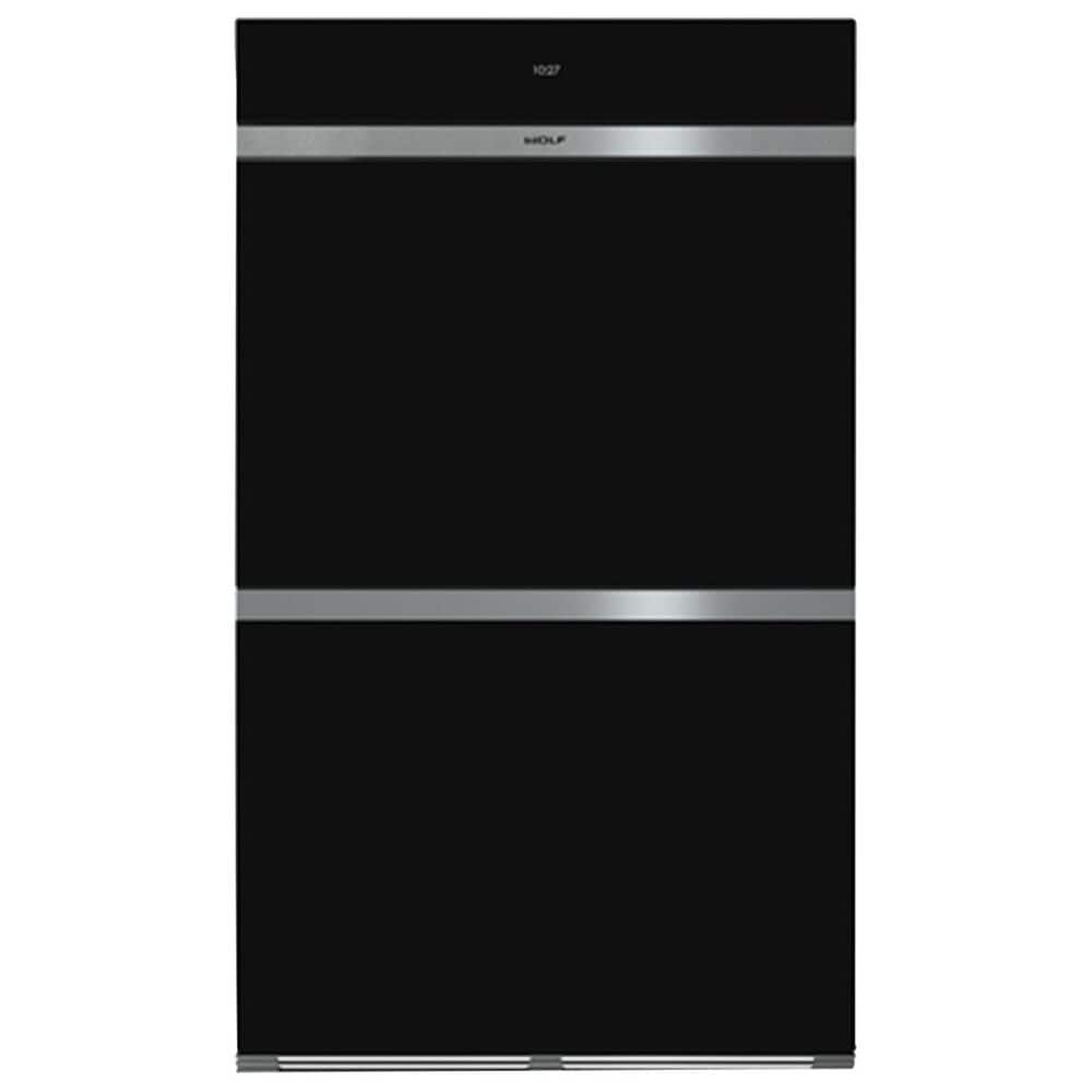 """Wolf 30"""" M Series Contemporary Built-In Double Oven in Black, , large"""