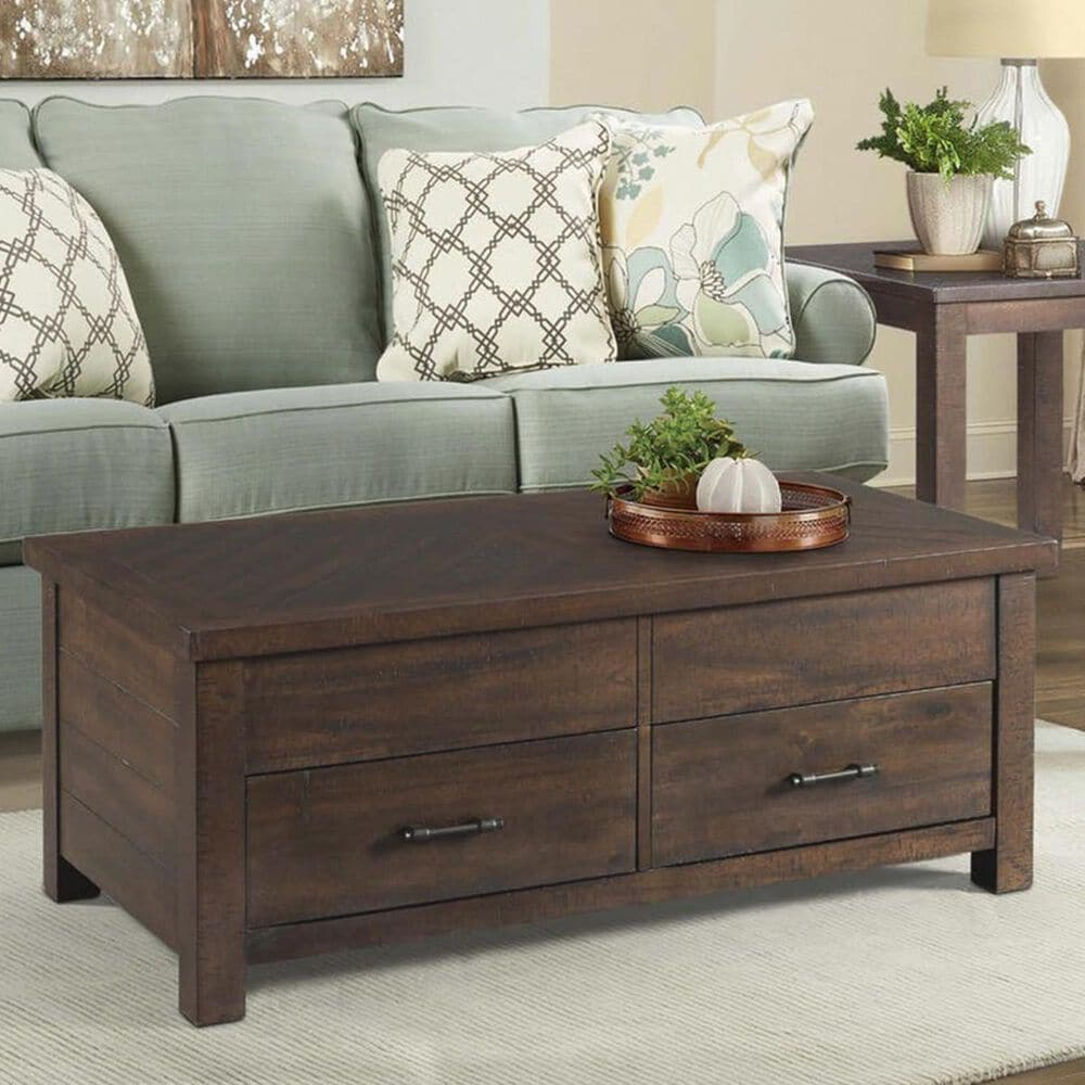 Mayberry Hill Jax Lift Top Coffee Table in Rich Walnut, , large