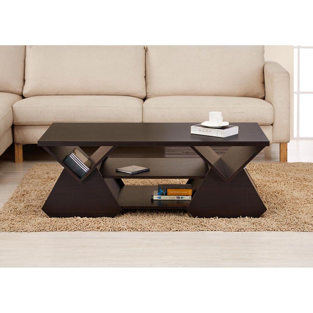Furniture of America Burnett Coffee Table in Espresso, , large