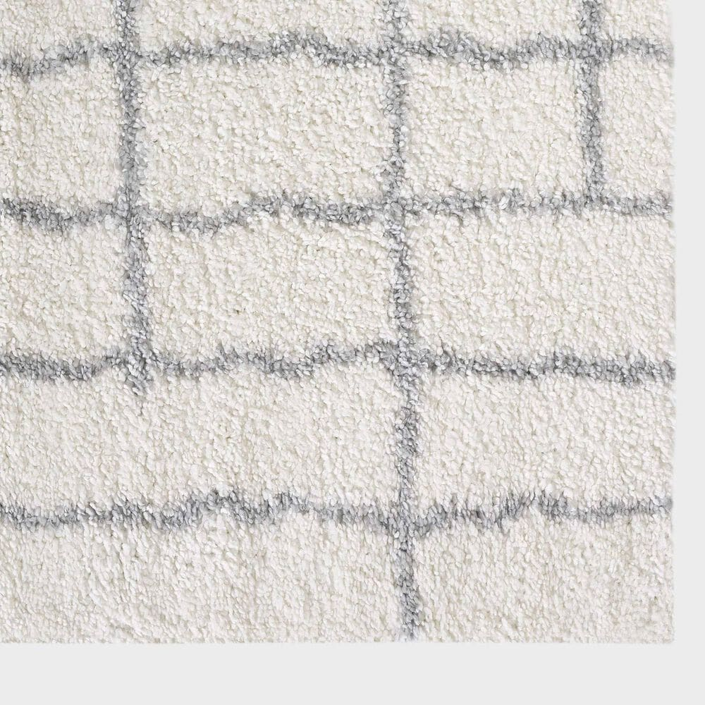 "Central Oriental Prince Light Zan 8656.253 7'1"" x 9'10"" Grey and Cream Area Rug, , large"