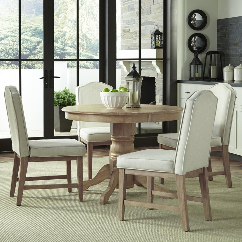 Home Styles Cambridge 5-Piece Round Dining Set in White, , large