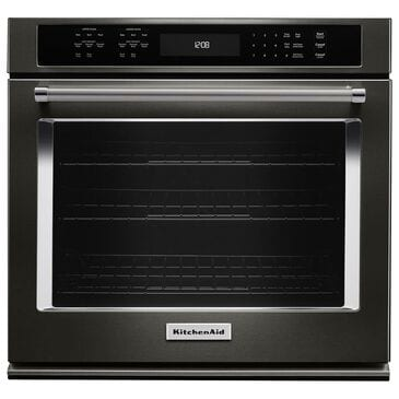 """KitchenAid 27"""" Single Wall Oven with Even-Heat True Convection in Black, , large"""