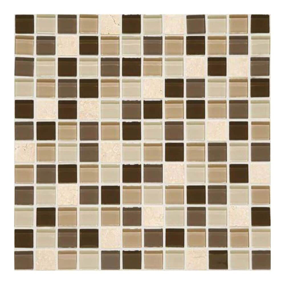 """Dal-Tile Mosaic Traditions Zen Escape 12"""" x 12"""" Glass and Stone Mosaic Sheet, , large"""