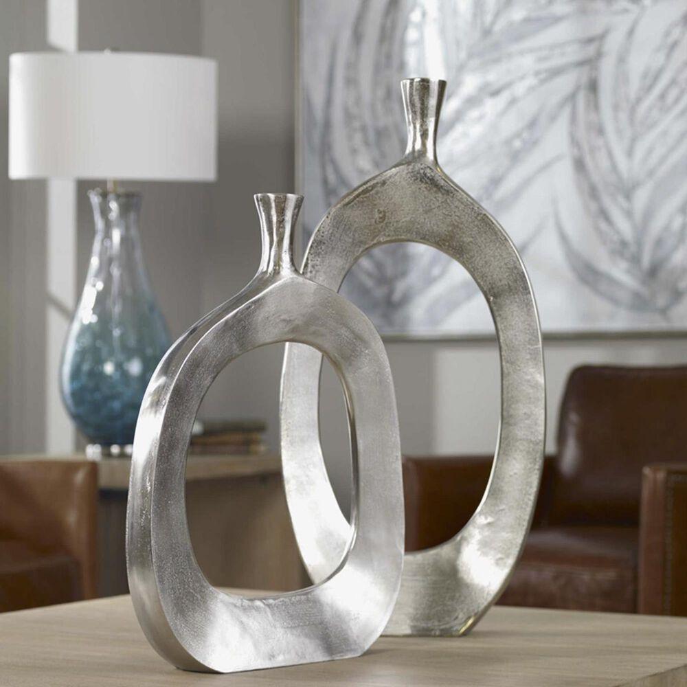 Uttermost Cierra Aluminum Vases (Set of 2), , large