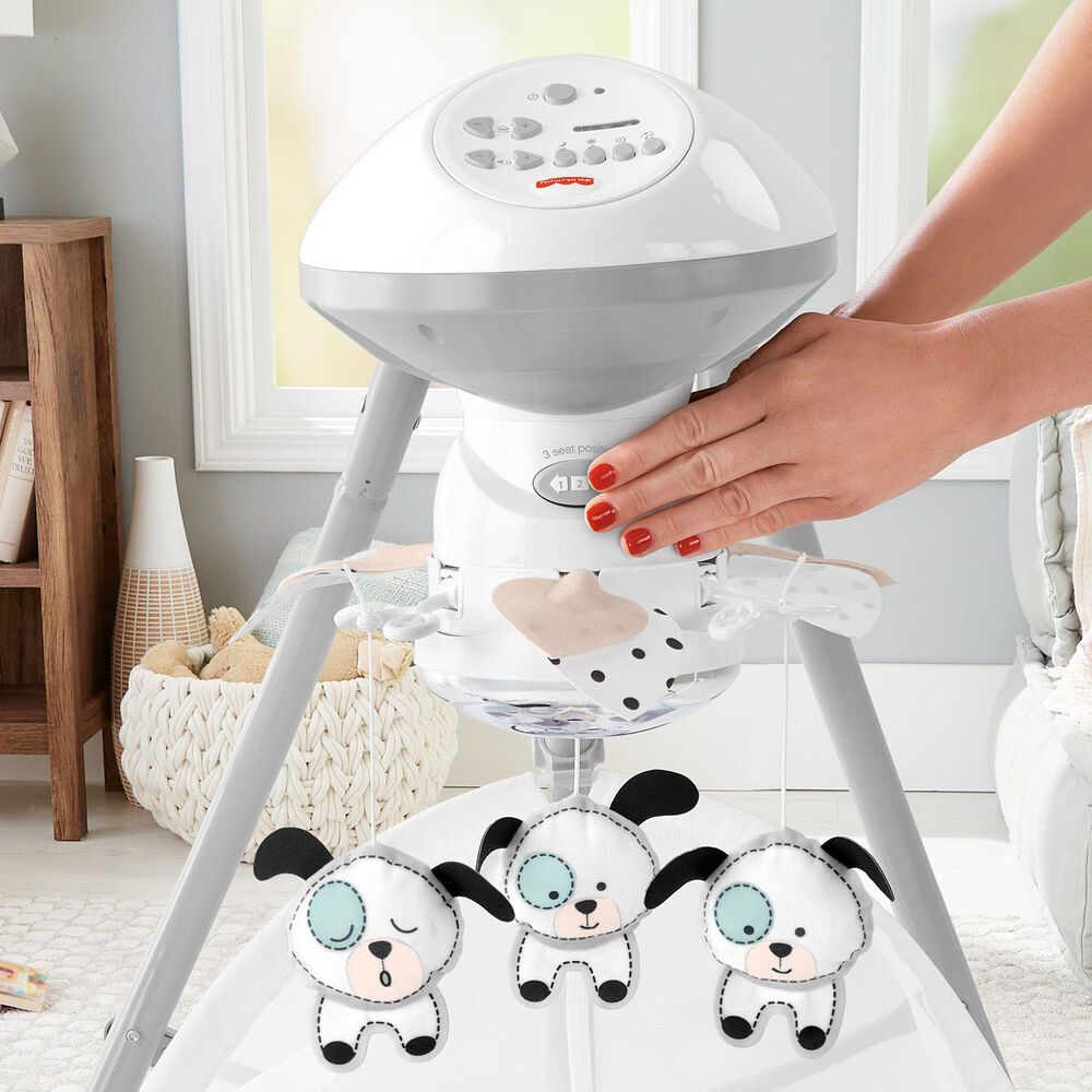 Fisher-Price Dots and Spots Puppy Cradle 'n Swing, , large