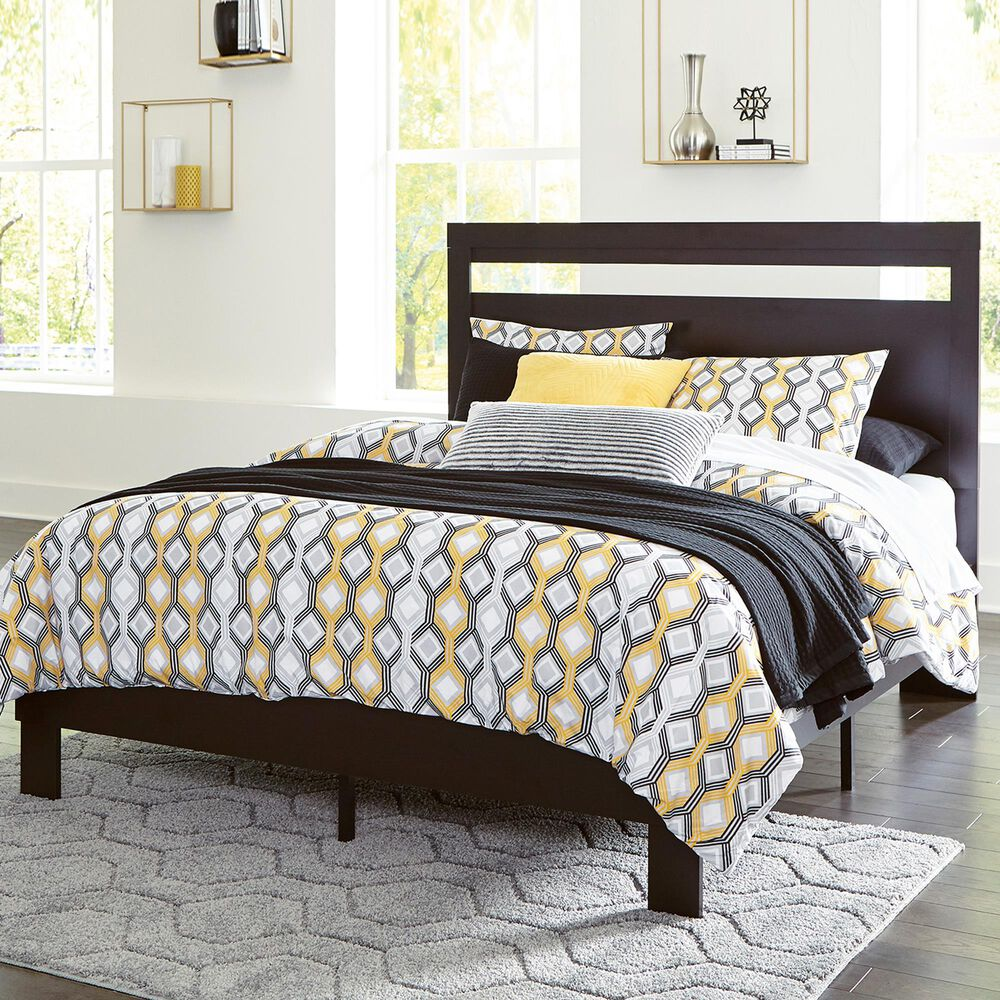 Signature Design by Ashley Flannia Full Platform Bed in Black, , large