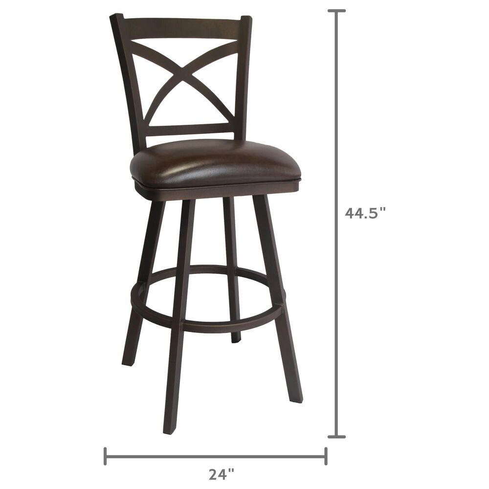 "Delaware Dining Edison 26"" Swivel Barstool in Sun Bronze/Dark Brown, , large"