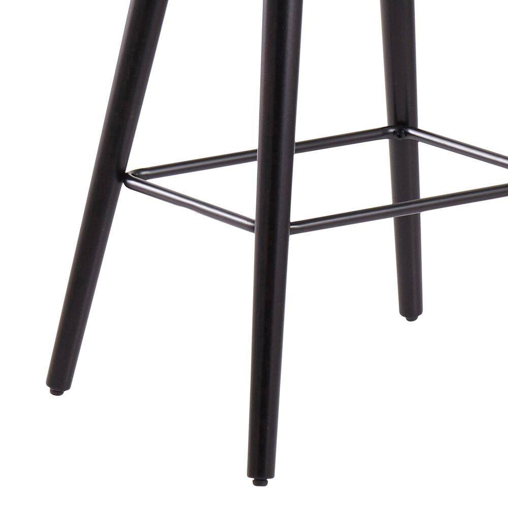 """Lumisource Saddle 26"""" Counter Stool in Grey/Black (Set of 2), , large"""