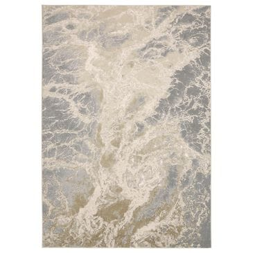 Feizy Rugs Aura 3563F 8' x 11' Beige and Gray Area Rug, , large