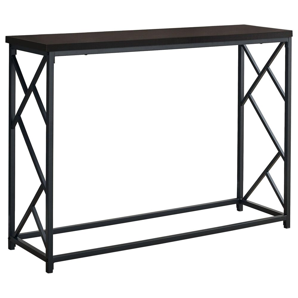Monarch Specialties Accent Table in Espresso, , large