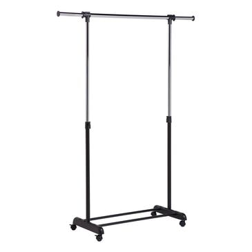 Honey Can Do Expandable Garment Rack in Chrome and Black, , large