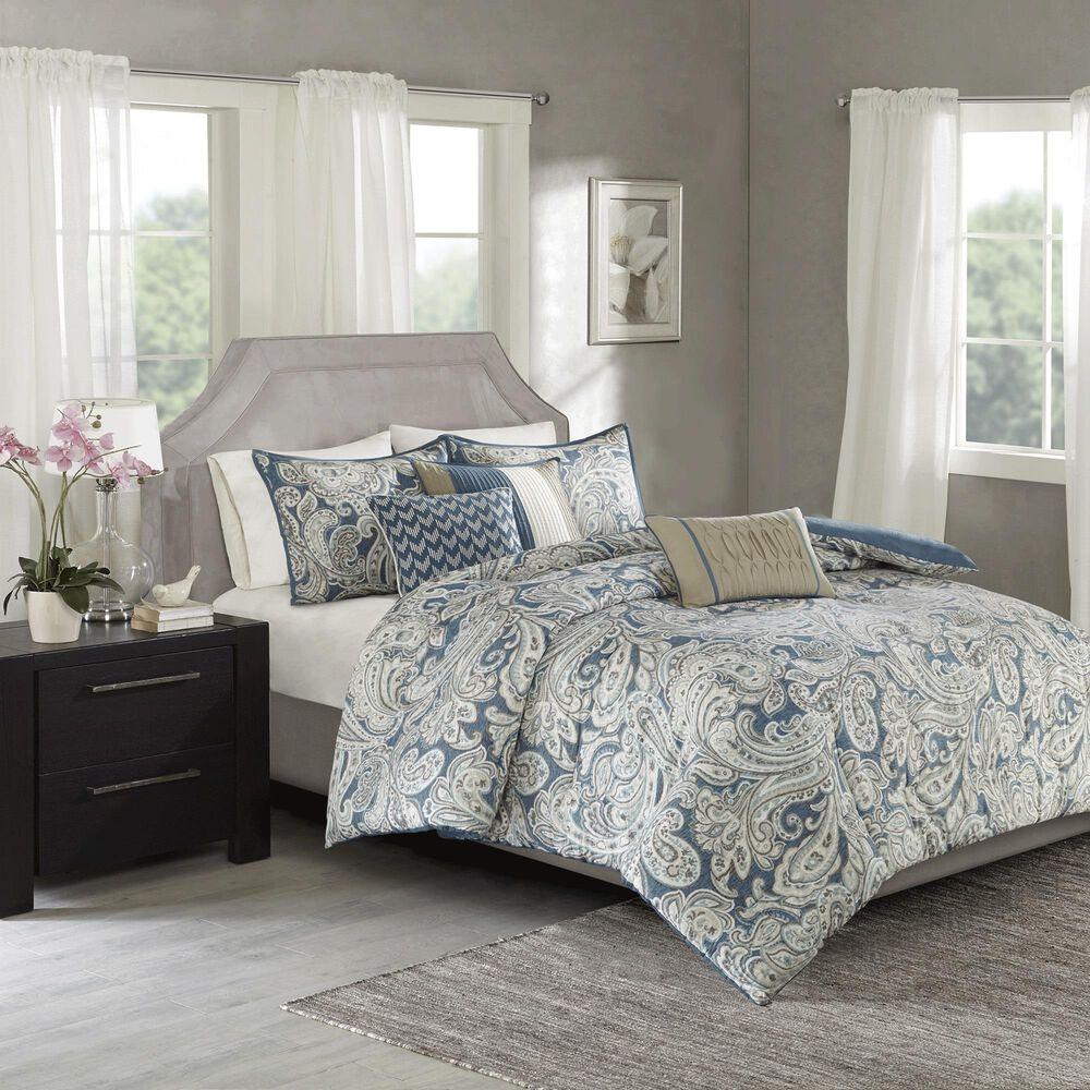 Hampton Park Gabby 7-Piece Queen Comforter Set in Blue, , large