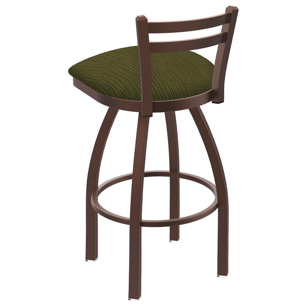 """Holland Bar Stool 411 Jackie 25"""" Low Back Swivel Counter Stool with Bronze and Graph Parrot Seat, , large"""