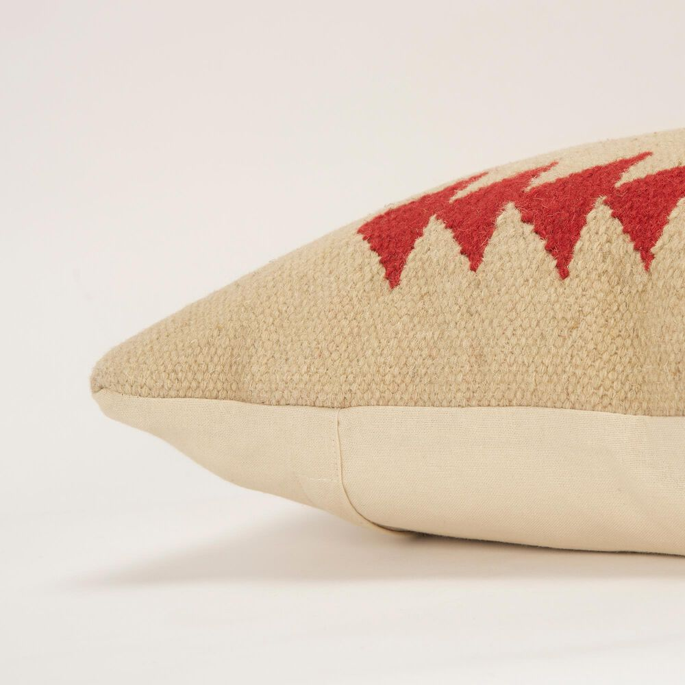 """Rizzy Home Aztek Motif 18"""" Down Filled Pillow in Red, , large"""