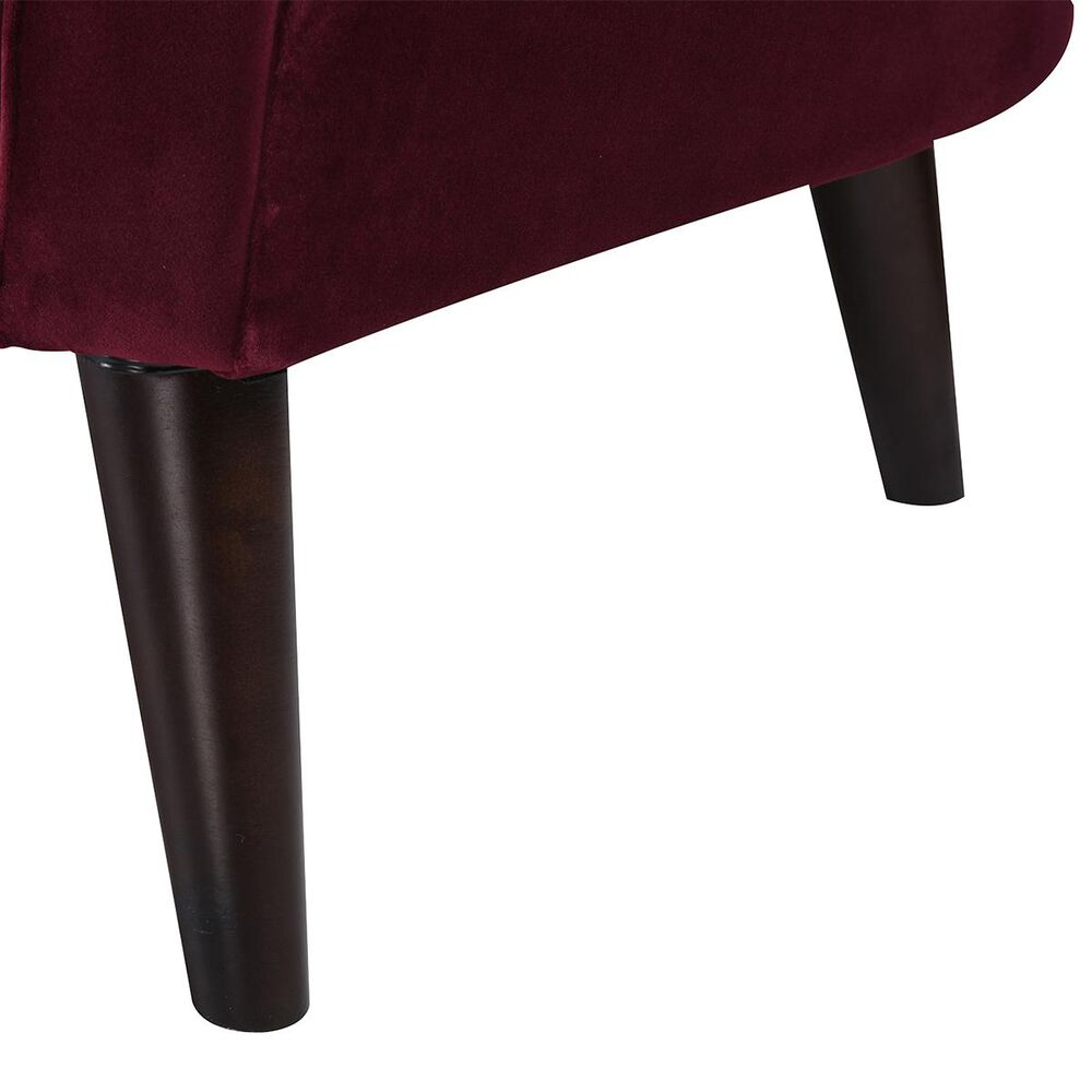 Jennifer Taylor Home Sandy Wilson Home Sienna Accent Arm Chair in Burgundy, , large