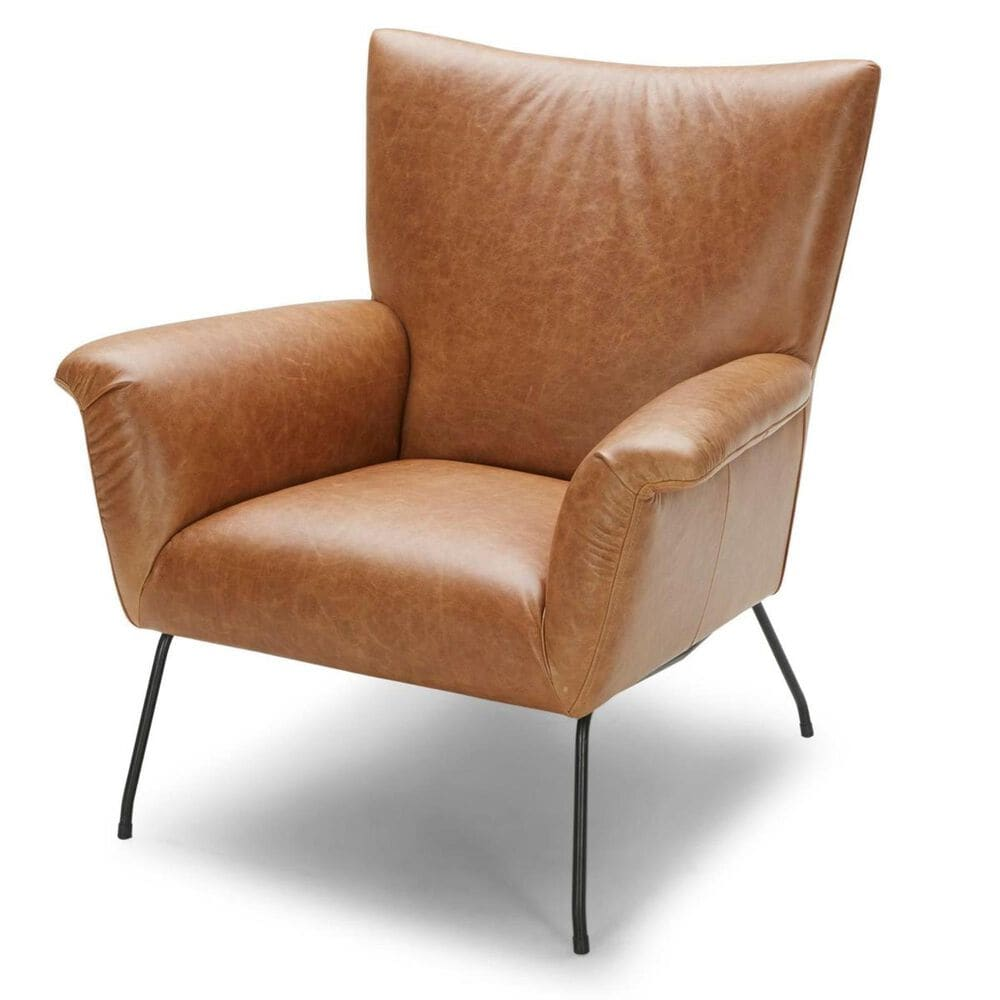 Interlochen Leather Chair in Saddle Brown, , large