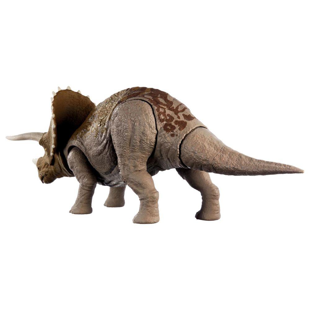 Mattel Jurassic World Sound Strike Triceratops Action Figure, , large
