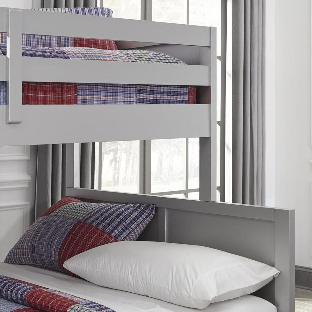 Home Styles Venice Twin over Full Bunk Bed in Silver/Grey, , large