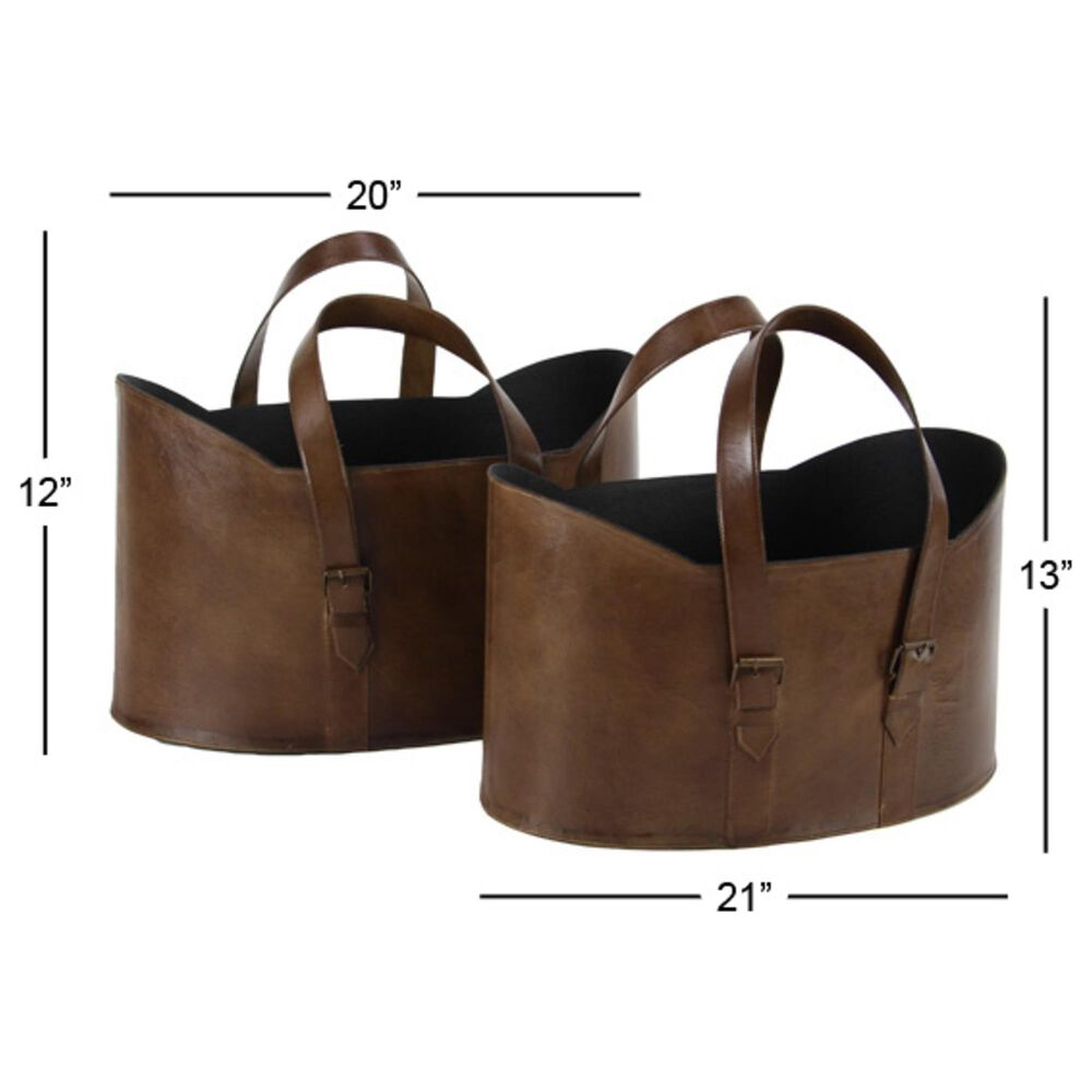 Maple and Jade Assorted Buckets in Brown (Set of 2), , large