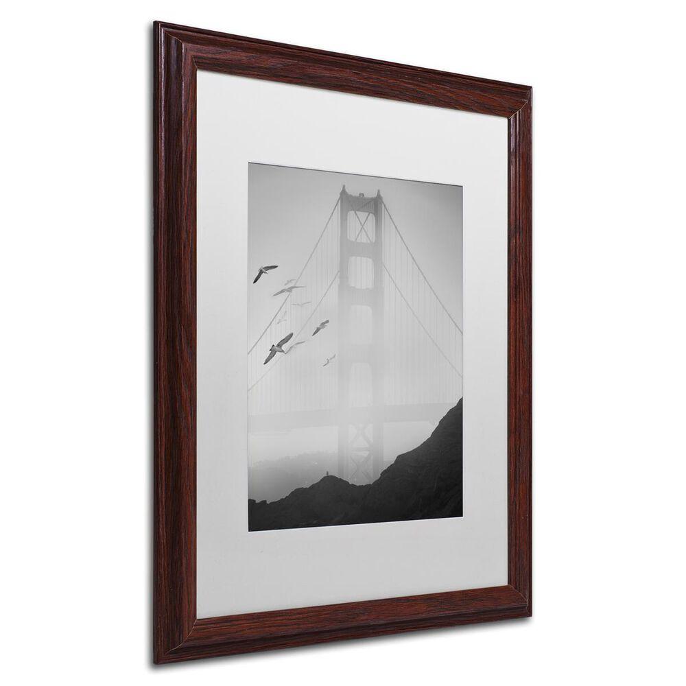 Timberlake Moises Levy 'Golden Gate Pier and Birds I' Matted Framed Art, , large