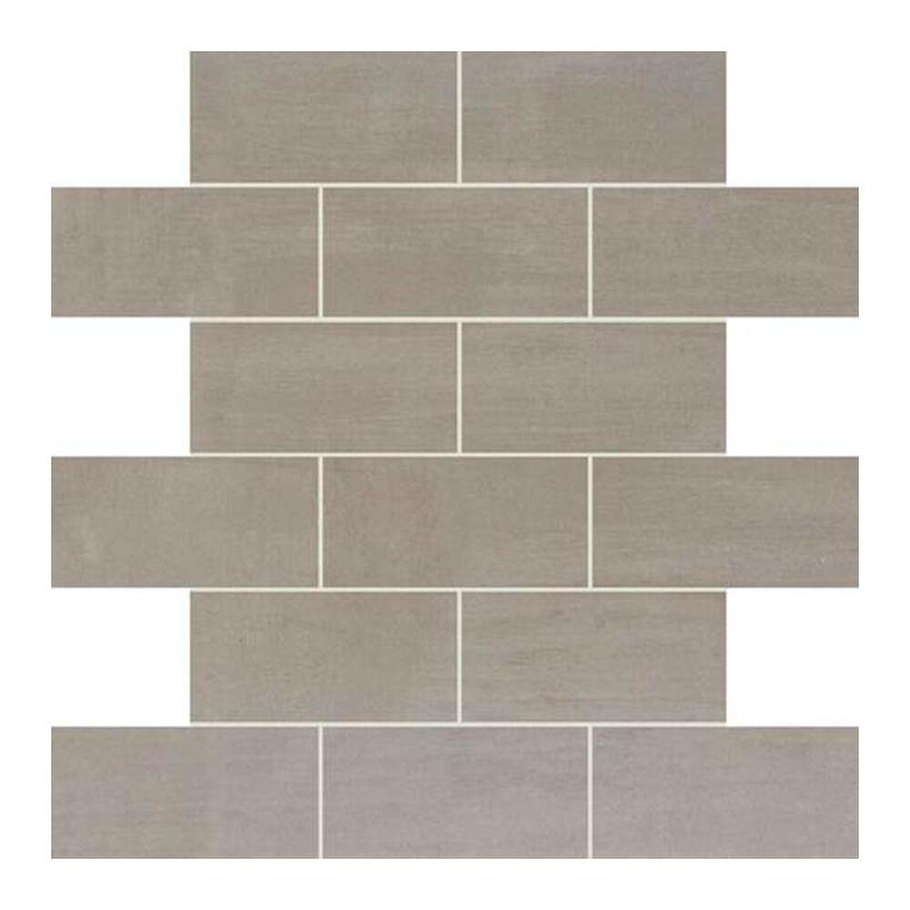 "Dal-Tile Skybridge 2"" x 4"" Ceramic Brick Joint Mosaic Tile in Gray, , large"