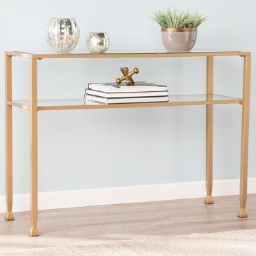 Southern Enterprises Jaymes Console Table in Gold, , large