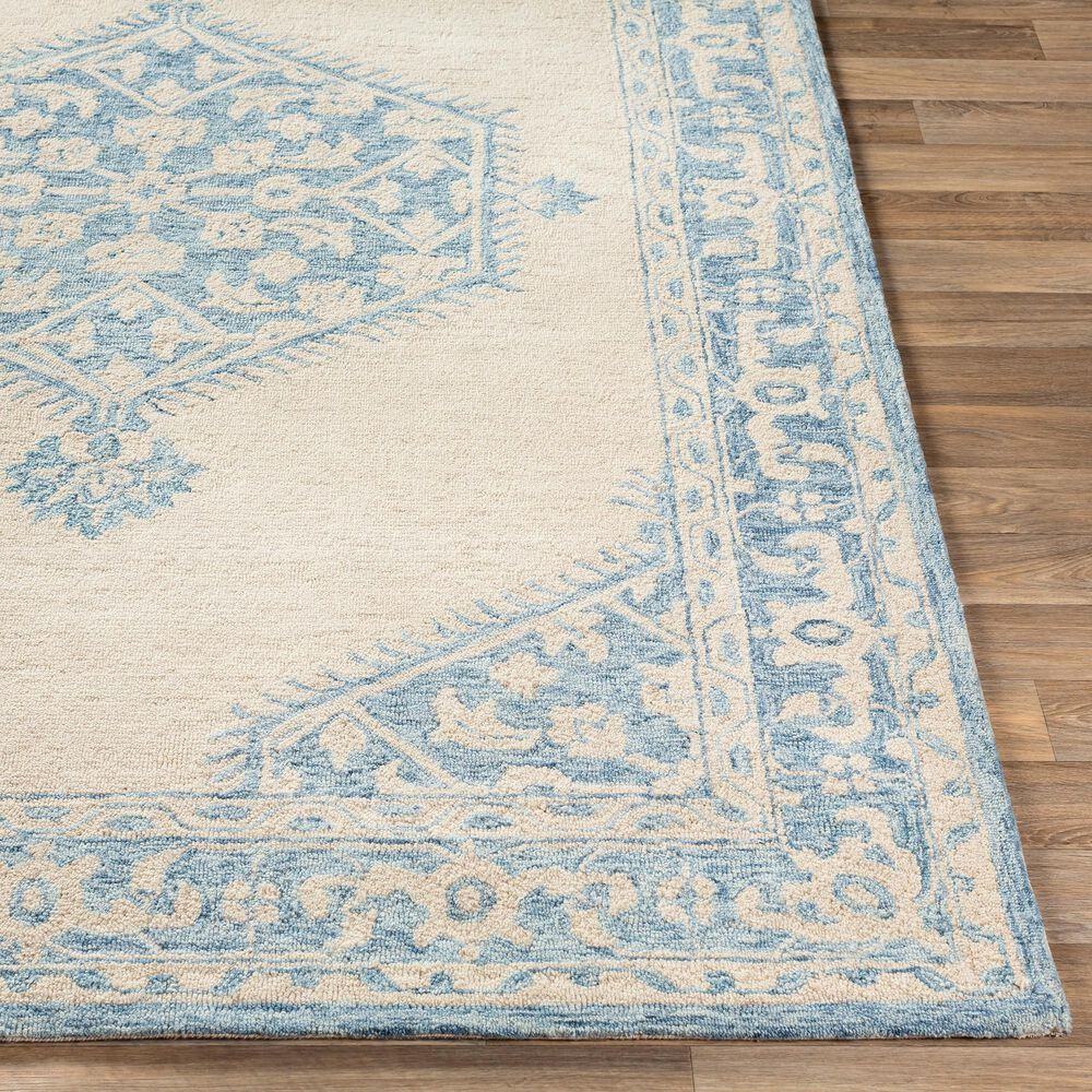 Surya Granada GND-2306 2' x 3' Pale Blue, Beige and Sky Blue Scatter Rug, , large