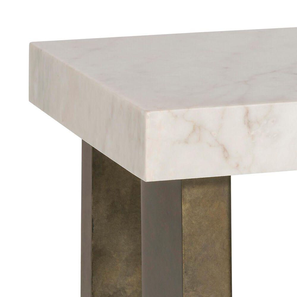 Vanguard Furniture Santa Cruz Lamp Table in Bronze and White, , large