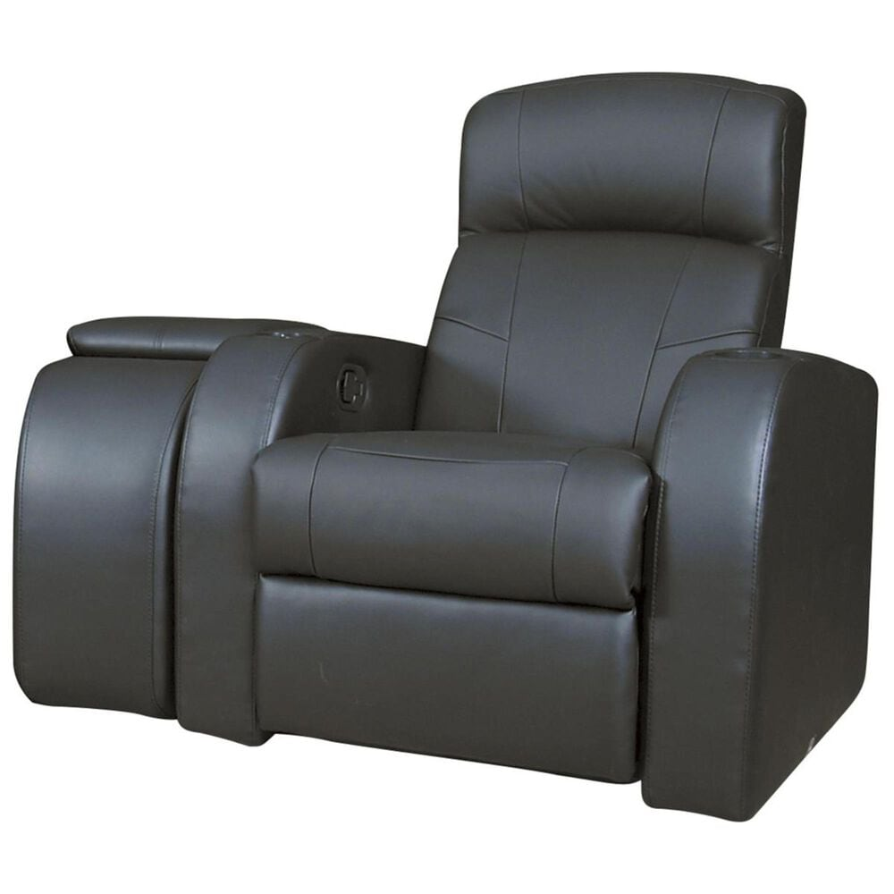 Pacific Landing 3-Piece Black Leather Home Theater Group, , large