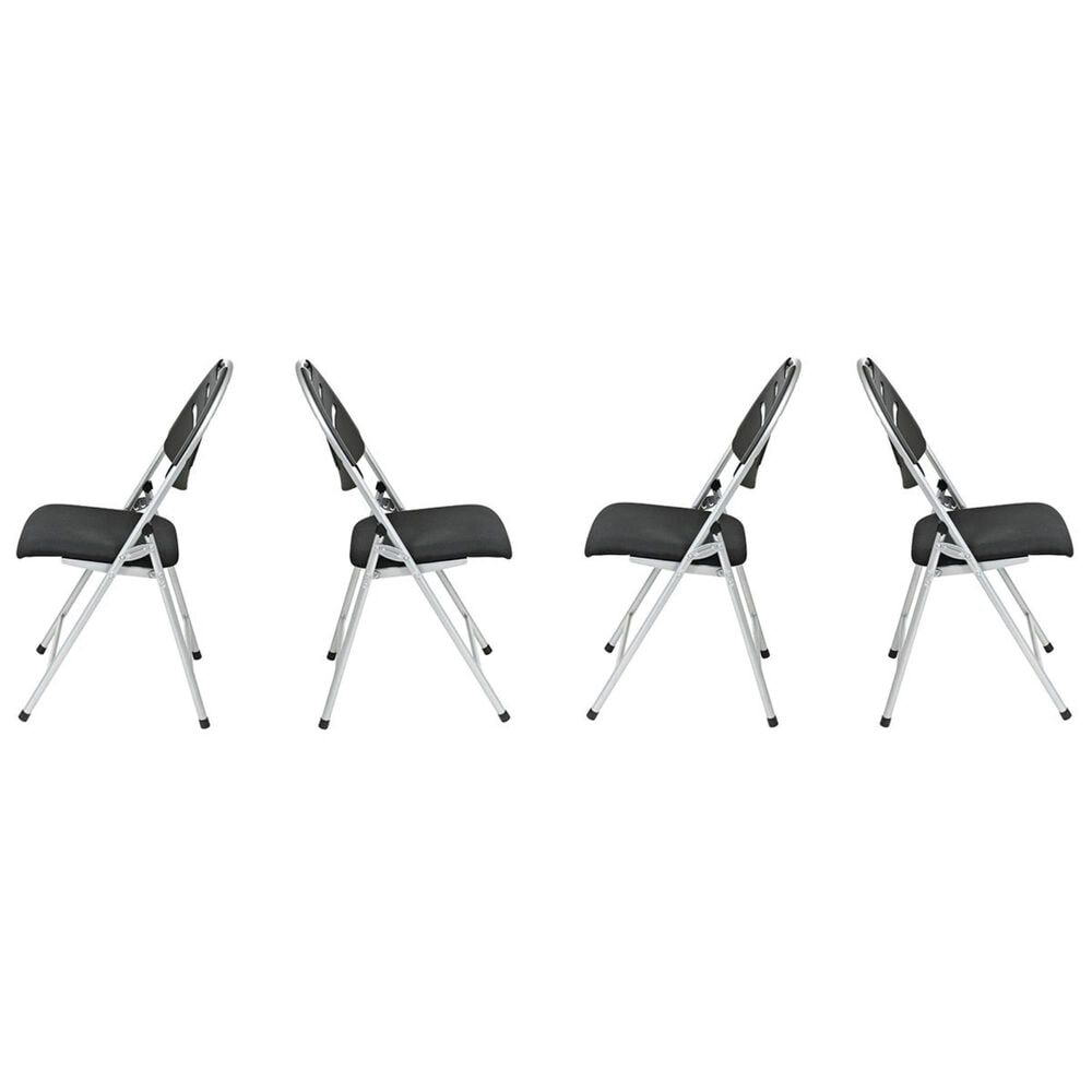 OSP Home FC Series Folding Chair in Black (Set of 4), , large